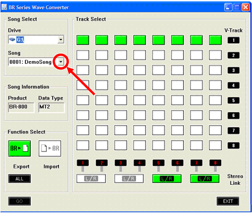 BR-800: Exporting a WAV File to a Computer – Roland Corporation